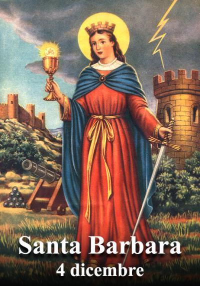 Contro i lampi e tuoni si invocava santa Barbara